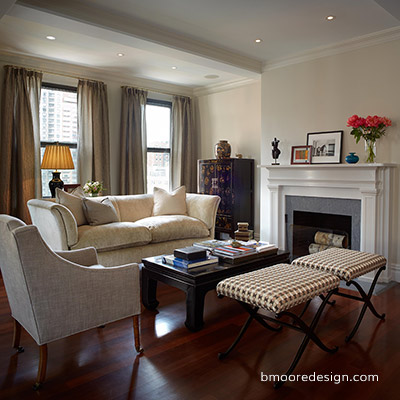Pre-War town home interior design on the upper east side NYC by Brooklyn Interior Designer B Moore
