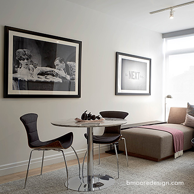 Dumbo NYC Model Home Staging by Brooklyn interior designer B Moore Design.