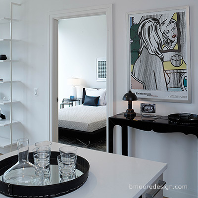 Mercedes House apartments in Midtown NYC model home staging by Brooklyn interior designer B Moore.