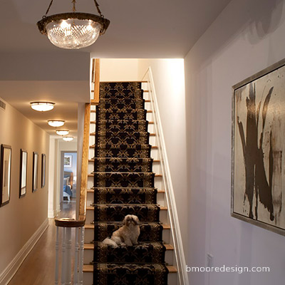 Brooklyn Heights brownstone interior design by B Moore Design, Brooklyn NY